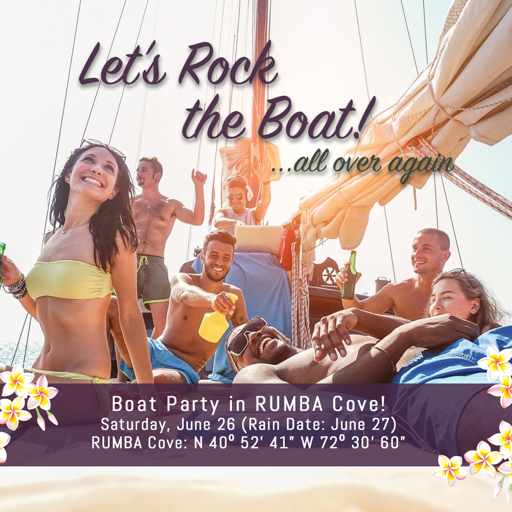 Come by sea to RUMBA Cove on Saturday, June 26 (Rain Date: Sunday, June 27) and join us for an afternoon filled with everything we love – a little reggae goodness featuring Project Vibe playing from a stage on the water, some of the most original tropical libations around, and the tastiest island cuisine north of the Caribbean. Live music is scheduled from 2pm to 6pm with food and drinks available from 12pm to 6pm.